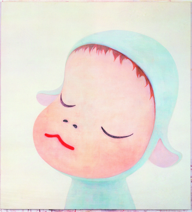 yoshitomo nara(1959- ), blue sheep, 1999. acrylic on cotton, 120 x 110 cm. pace gallery http://www.pacegallery.com/artists/323/yoshitomo-nara [repinned from pace gallery pinterest: .../pacegallery/]