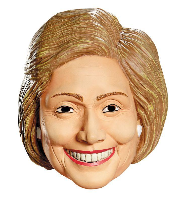 Hillary Clinton Mask - full, over the head, vinyl mask.