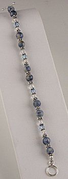 Jewelry Making Idea: Everyday Blue Jean Bracelet (eebeads.com)