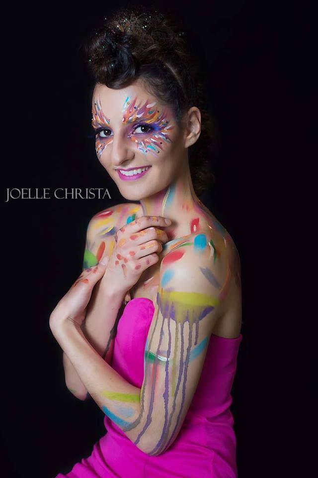 creative colourful makeup by Aleksandra Pinneri of www.unveilthebeauty.com.au hair by Melissa Nicole hair & makeup