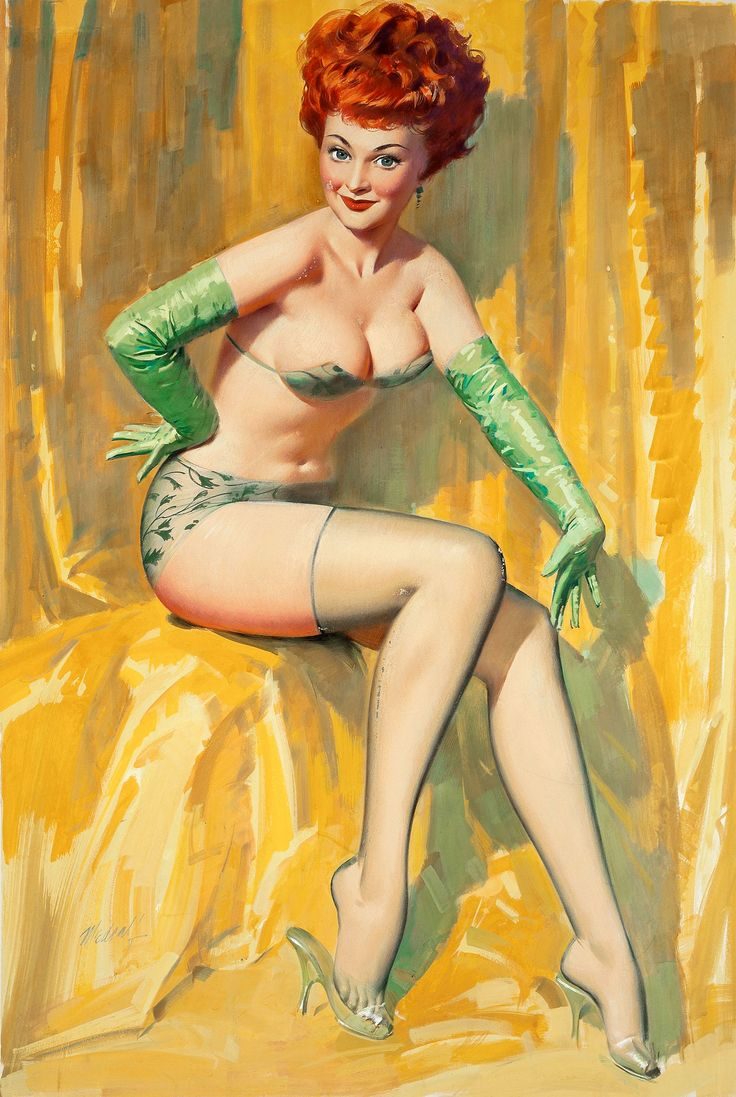 Vintage gay pinup art