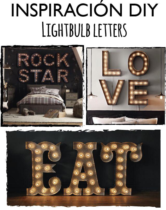 DIY Cómo hacer letras luminosas | Room Decor 2