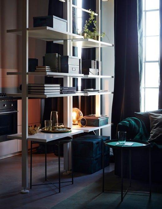 Mobili Divisori Per Soggiorno Ikea.Idea Separazione Ambienti Ikea Elvarli Sale Soggiorno Piccole Piccoli Spazi Arredamento