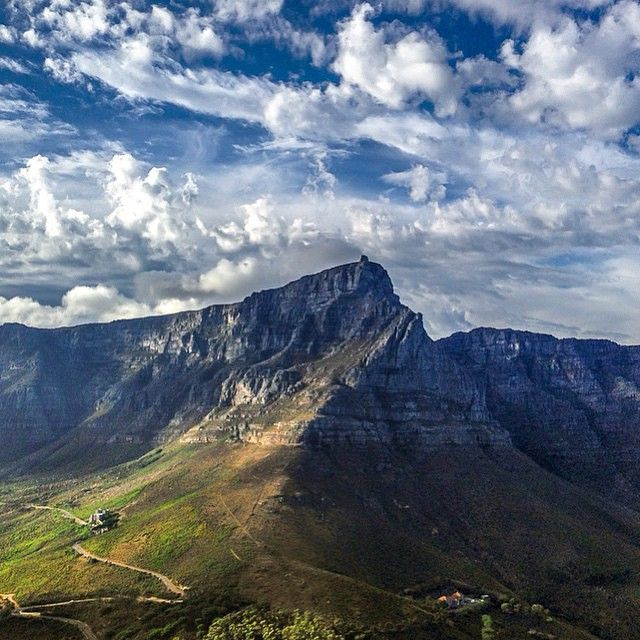 Clouds above Table Mountain - Cape Town - (Photo by @drawing_with_lights)