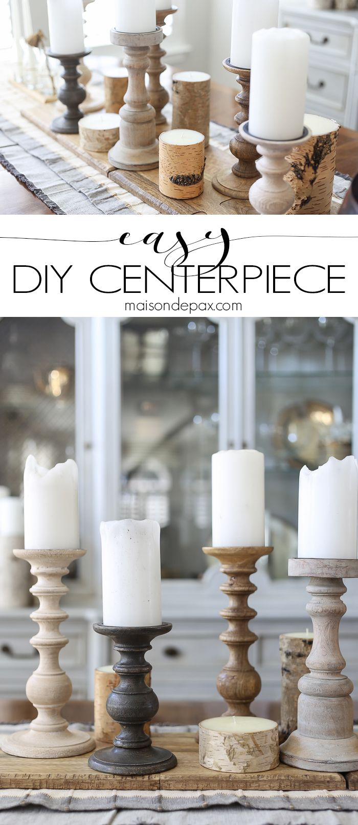 Love this super easy DIY centerpiece! So versatile... PLUS a checklist to help you get your Thanksgiving table ready.