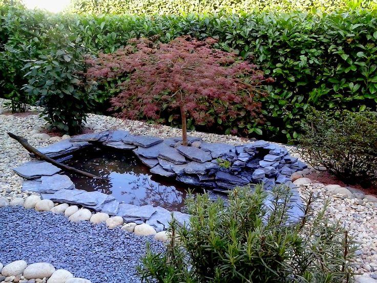 Un giardino a bassa manutenzione con laghetto e zona bimbi | Il Tempo Giusto