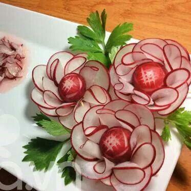 Fleur en radis... ...
