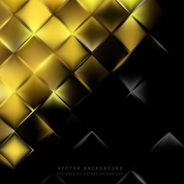 Abstract Black Gold Square Background Design In 2020 Glitter