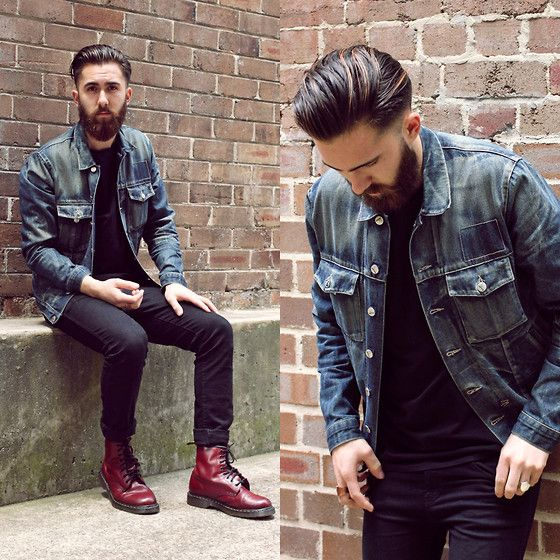 Ksubi Denim Jacket Dr Denim Jeansmaker Black Jeans Dr. Martens Boots | Menu0026#39;Style | Pinterest ...