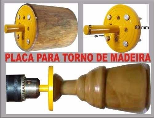 garra e placa para torno de madeira