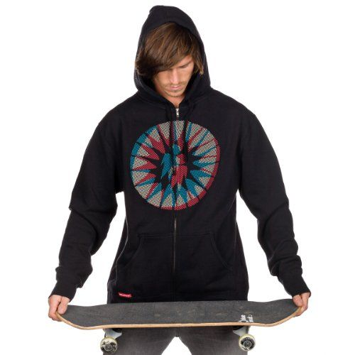 Sweater Hooded Zip Men Alien Workshop Starburst Dot Zip Hood black M: Amazon.co.uk: Sports & Outdoors