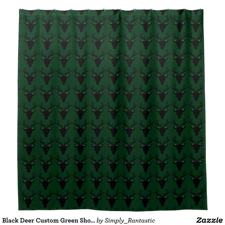 Black Deer Custom Green Shower Curtain