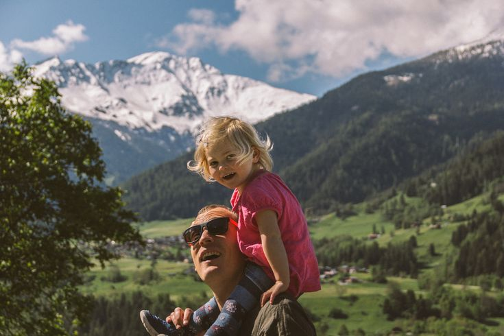 Father and daughter time in The Swiss Alpes