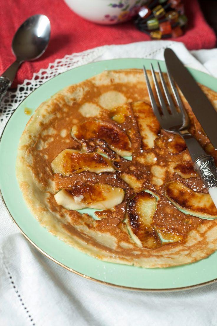 Pannenkoeken met gebakken appeltjes
