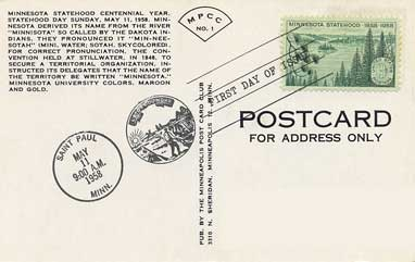 Research for postcard stamps:  In this image you can see the back of a postcard and the stamps which are usually used.