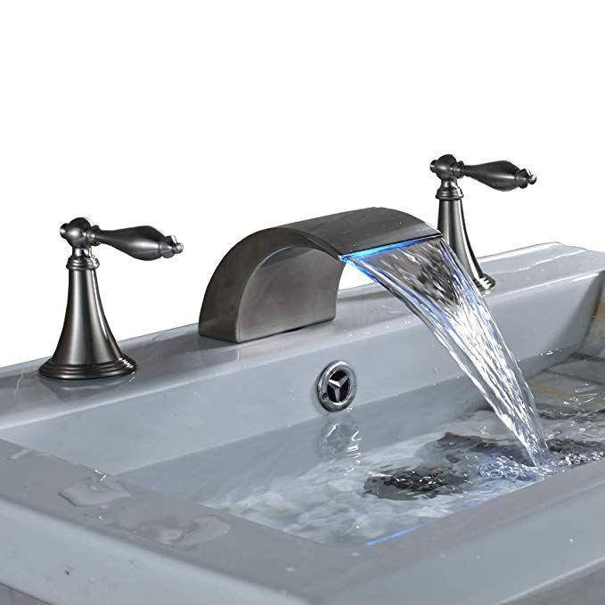 Led Colors Waterfall Bathroom Sink