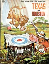 1968 Texas Longhorns v Houston Cougars Football Program 9/21/68 Ex 34656