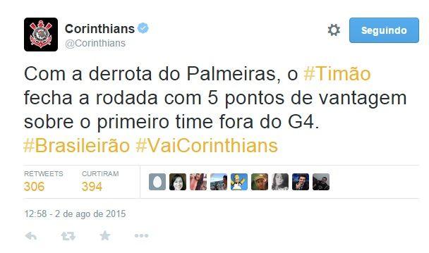Corinthians no Twitter