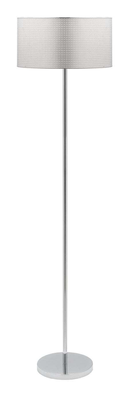 With a perforated silver shade and a chrome base, the Darien Floor Lamp will add a little extra bling to any corner of your home.