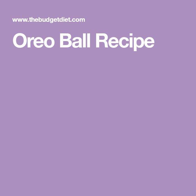 Oreo Ball Recipe