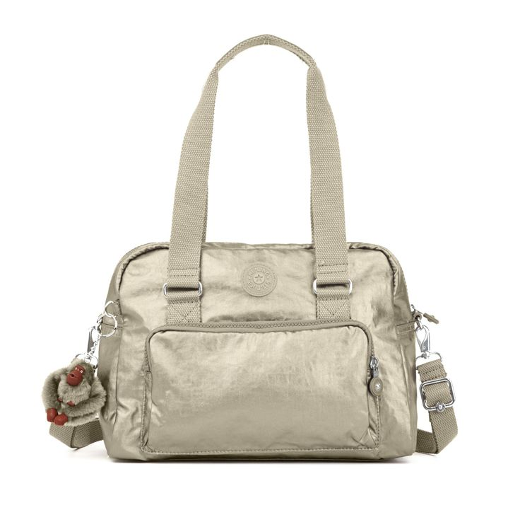 Dania Metallic Handbag - Metallic Pewter | Kipling