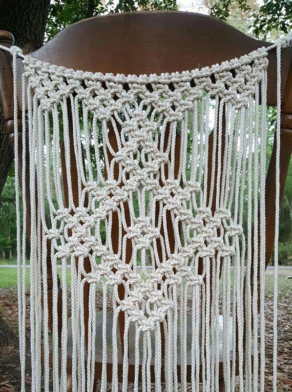 2 copertura della sedia di nozze Macrame parete macrame