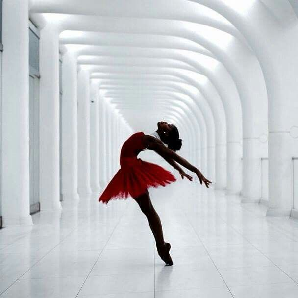 Beautiful black ballerina