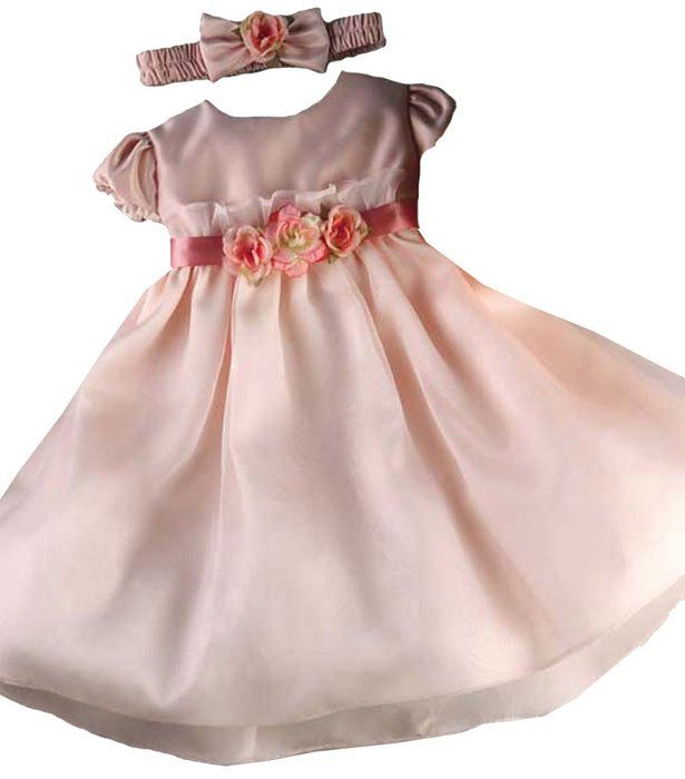 KID Collection Baby-Girls Flower Princess Dress 12M Med Pink (Kid B776)