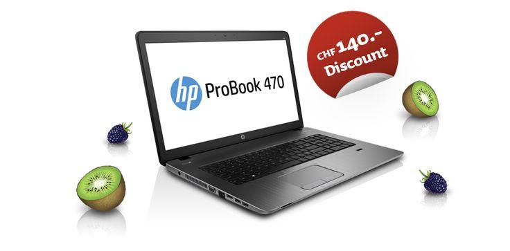 Das ProBook 470 ist der perfekte Destop-Ersatz für Studenten. Natürlich mit grossem Studentenrabatt!