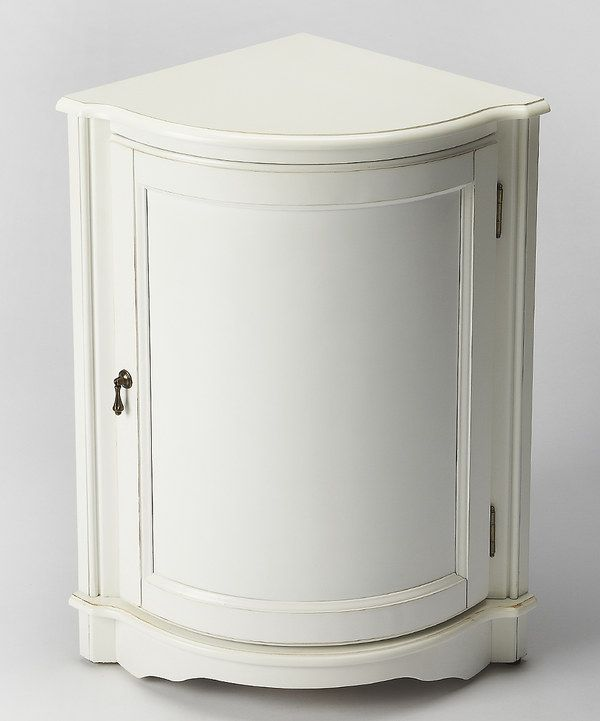 Look at this Cottage White Corner Cabinet on #zulily today!