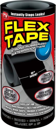 NEW-Flex-Tape-Black-8-034-x5-039-Top-Quality-AS-SEEN-ON-TV-ORIGINAL-Strong-Waterproof