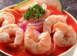 Ceviche de Camarones, Recetas de Entradas, Recetas Fáciles de Cocina #recetas #recetasfaciles #recetasdecocina #recetasgratis
