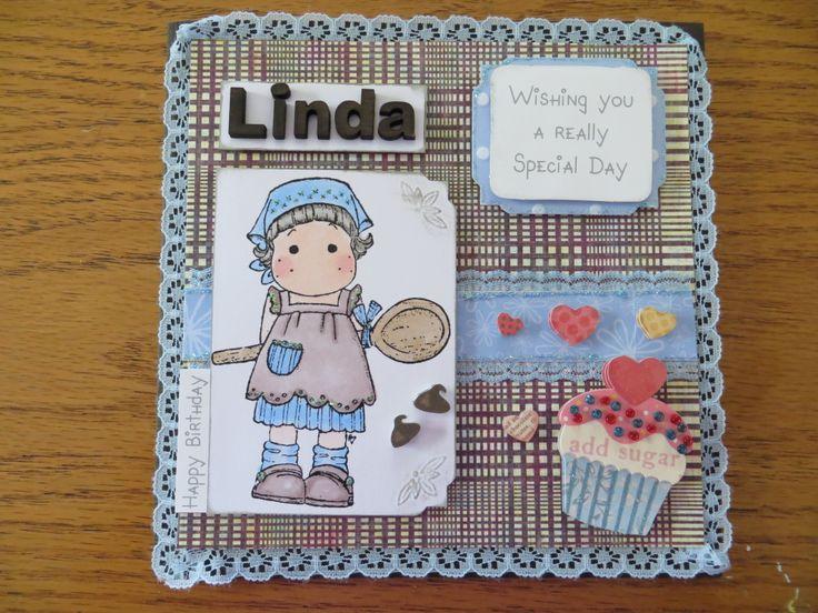 Birthday card, Magnolia Tilda baking