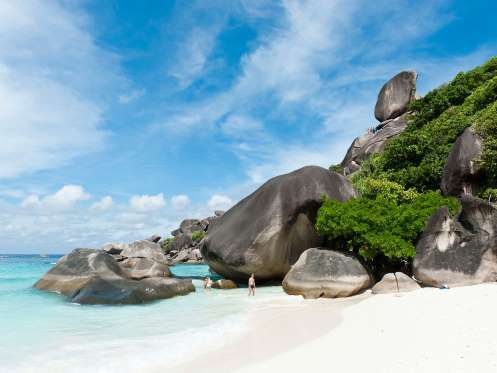 MU KO SIMILAN NATIONAL PARK, THAILAND -- This collection of islands is even more enchanting below the surface than it is above. White beaches... - imageBROKER/Alamy