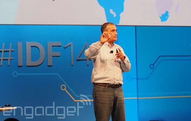 Back in January, Intel CEO Brian Krzanich teased us with Intel Edison -- a tiny computer with a 22nm chip, on-board WiFi and Bluetooth and the footprint