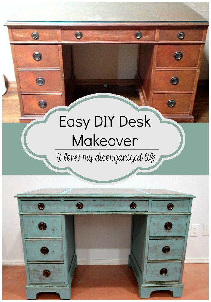 25 best ideas about refinished desk on pinterest desk for Easy diy desk