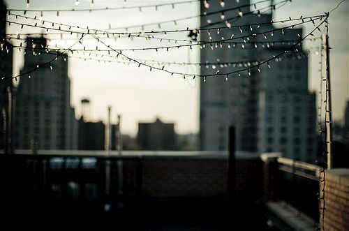 I'd envision many wonderful gatherings here.: Rooftop Party, Dream, String Lights, Fairy Lights, Space, Photo, Rooftop Lights, Rooftops