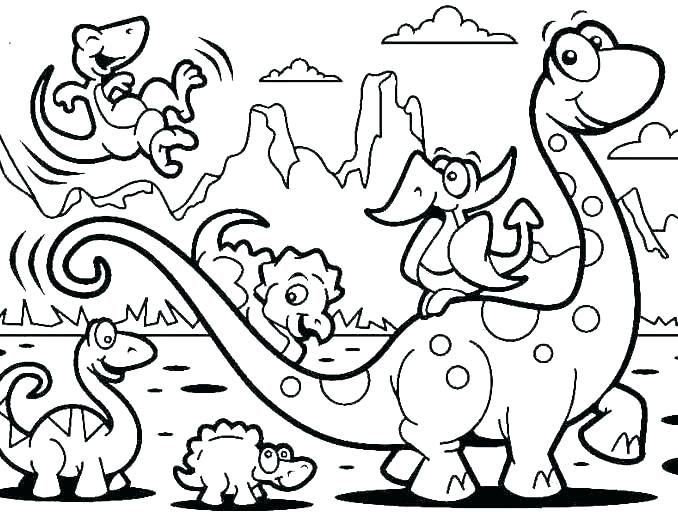 Animal Coloring Pages Dinosaur Coloring Pages Preschool