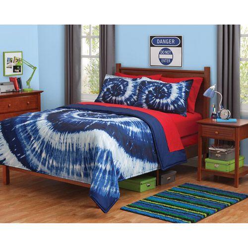 Tie Dyed Comforter Set Walmart A Q U A T U R Q U O I