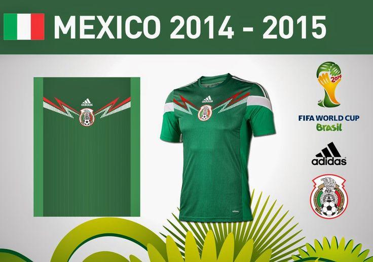 Diseños, Vectores y Templates para Camisetas de Futbol: MEXICO 2014-2015 VECTOR - TEMPLATE