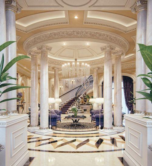 Luxury Mansion Interior Qatar On Behance