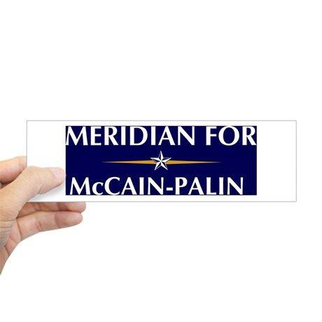 MERIDIAN for McCain-Palin Bumper Bumper Sticker on CafePress.com