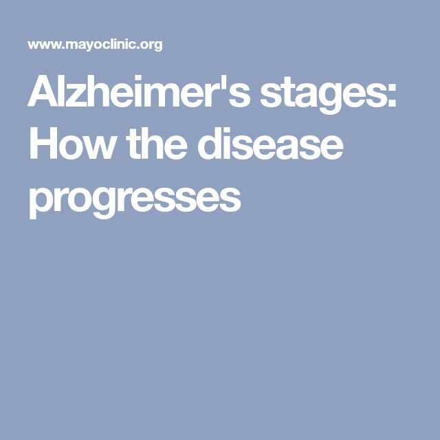 Alzheimer's stages: How the disease progresses