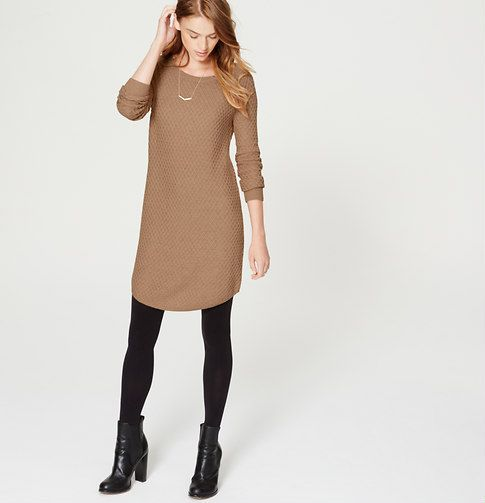 """Simply stitchy (and ultra flattering), this soft knit is the kind you'll reach for day in and day out. Ballet neck. Long sleeves. Ribbed neckline, cuffs and shirttail hem. 19 1/4"""" from natural waist."""