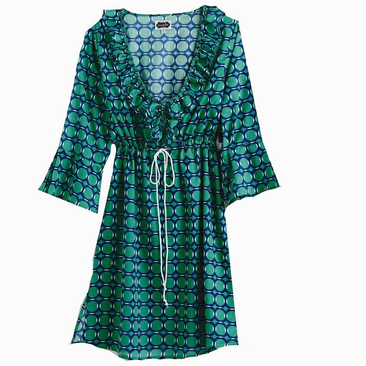 Anna Bell-Sleeve Tunic - Kelly Green Link