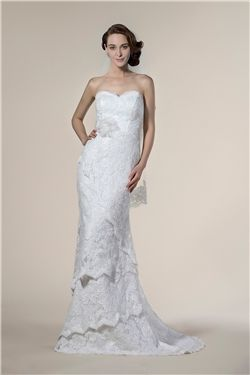 Winter Hourglass Trumpet/Mermaid Sleeveless Chic & Modern Spring Sweep/Brush  Sweetheart Wedding Dress