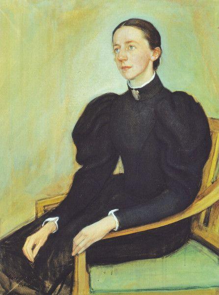 """""""Mathilda Wreden Muotokuva"""" (1896) by Eero Järnefelt"""