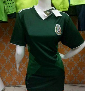 6803b9a76 ... Women Mexico National Team 2017 Home Darkgreen Soccer Jersey J789 ...