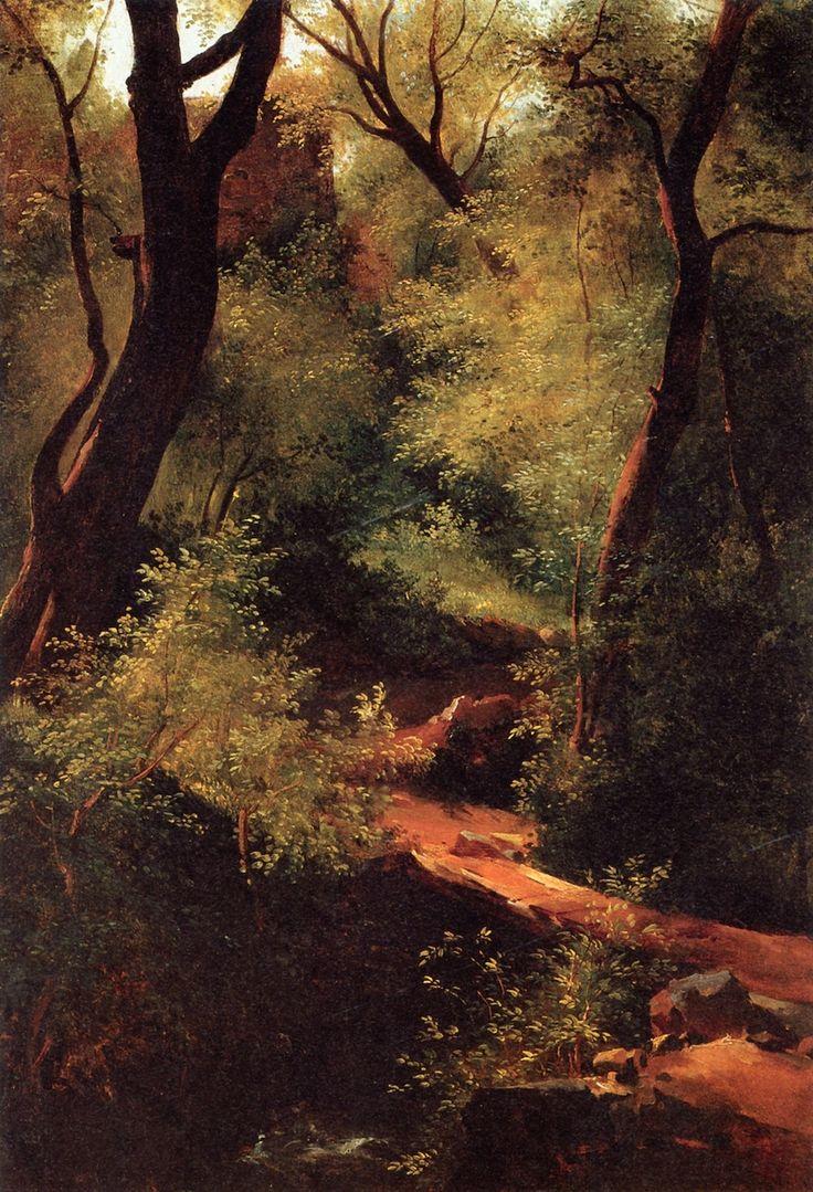 Théodore Rousseau - Le petit pont dans la forêt (1828-1830)