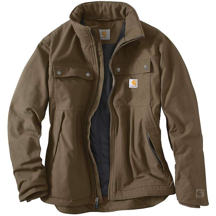 Carhartt Men's Quick Duck Jefferson Traditional Jacket - Small Regular - Canyon Brown